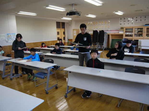 知小2018-第2回漢字検定の様子