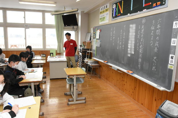 知小2019-高学年参観日 6年生の6年間の成長を伝える作文