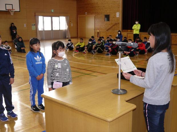 知小2019-図書委員会から読書に関する表彰