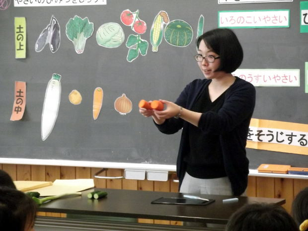 知小2018-1年生の食育授業