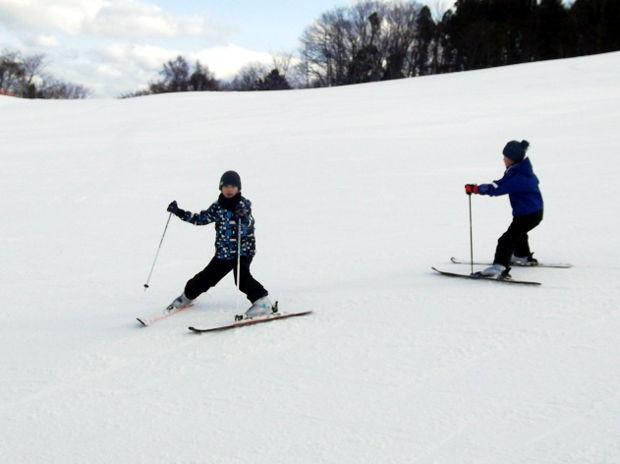 知小2019-中学年スキー授業 どう?上手になったでしょ?
