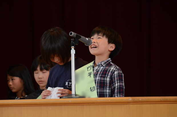 知小2018-児童会選挙 4年生の熱心な演説