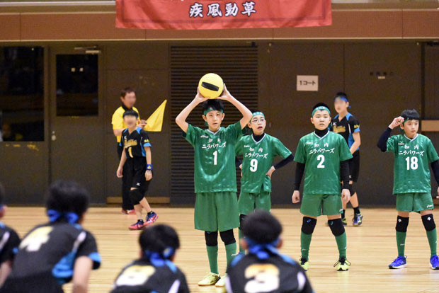 知小2019-ドッヂ全道大会 チームをまとめたキャプテン