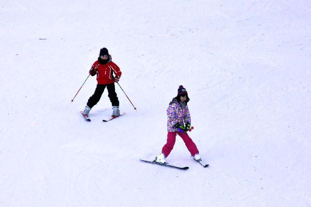 知小2019-町スキー場3連休の様子