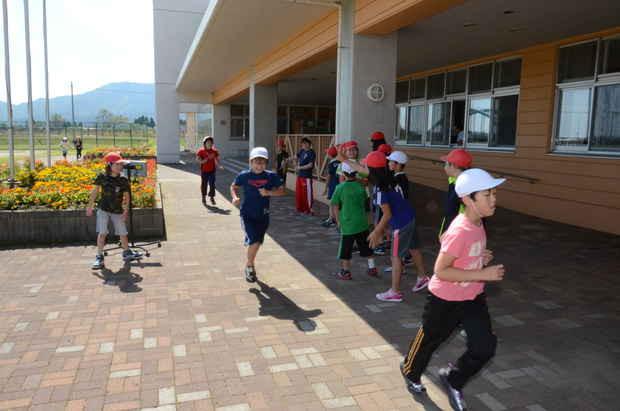 知小2018-マラソン大会直前の4年生の練習
