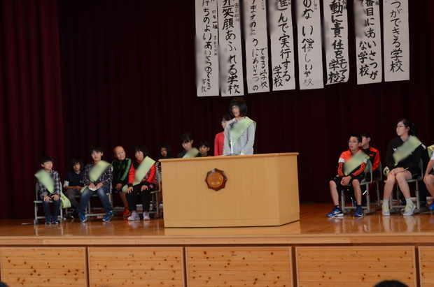 知小2018-児童会選挙 会長候補の6年生