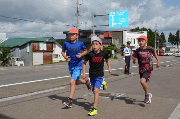 知小2018-マラソン大会、5年生の様子