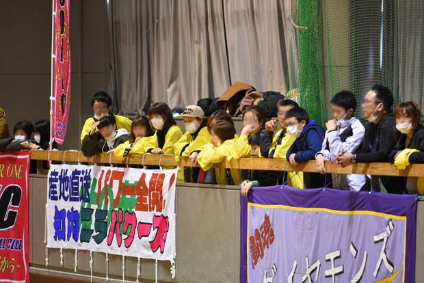 知小2019-ドッヂ全道大会 保護者の応援