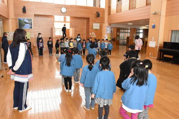 知小2019-新1年生1日体験入学 1年生が迎えに来たよ