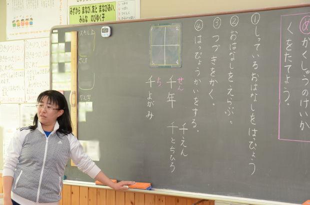 知小2018-1年生漢字の学習中