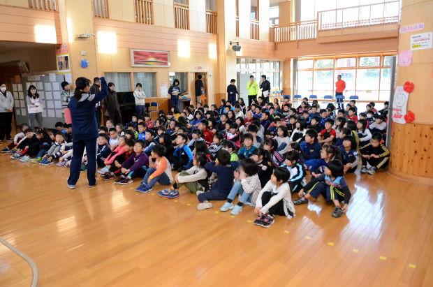 知小2018-10周年式典の合唱練習