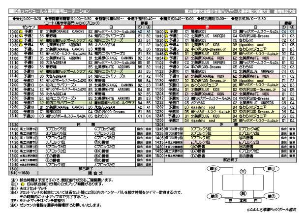 ドッヂ予選対戦表(クリックしてダウンロード)