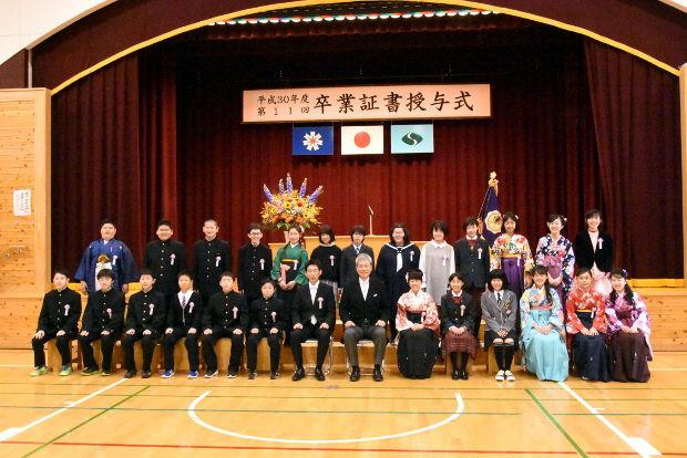 知小2019-卒業生の記念写真