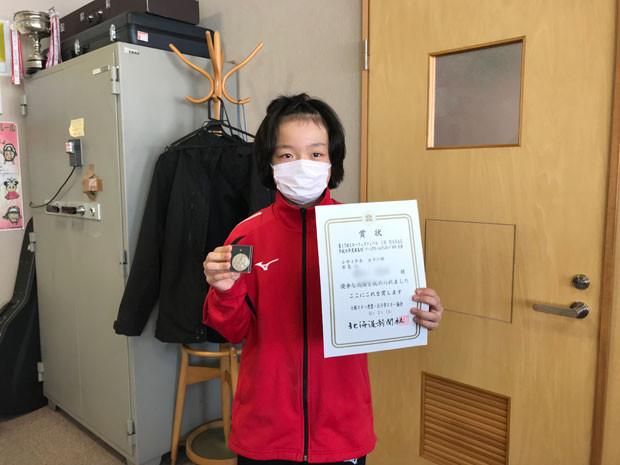 知小2019-スキー大会準優勝の表彰