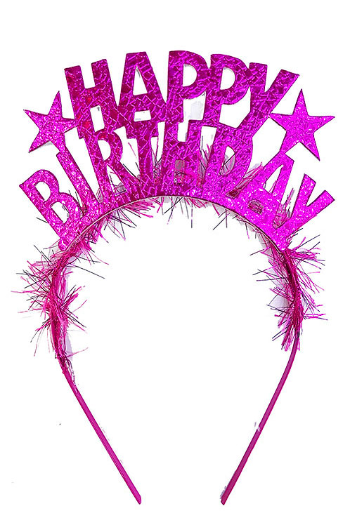 Happy Birthday Gold Pembe Taç