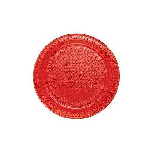 Plastik Kırmızı Tabak 25'li