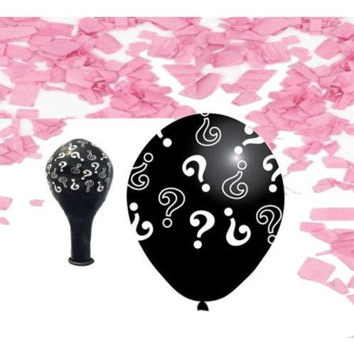 25'li 12inç Pembe Konfetili Lateks Cinsiyet Partisi Belirleme Balonu