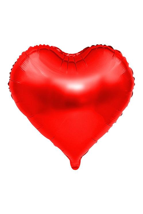 Kırmızı Folyo Büyük Kalp