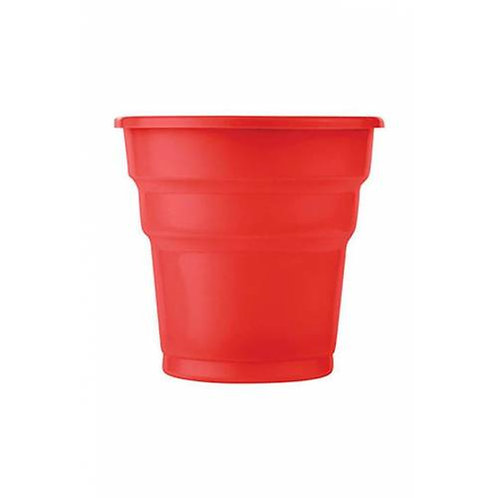 Plastik Kırmızı Bardak 25'li