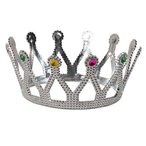 Gümüş Kraliçe Tacı Plastik