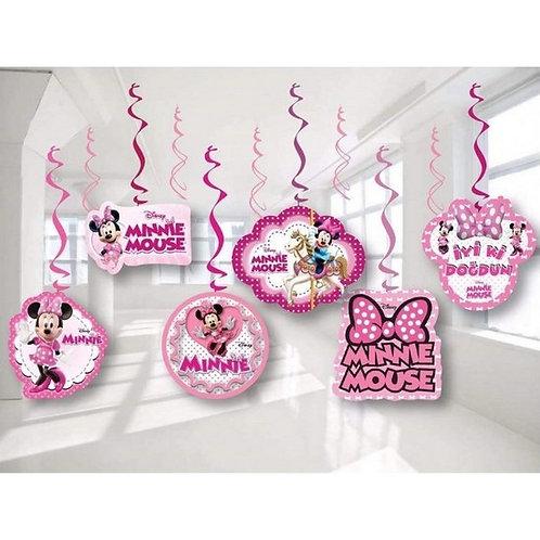 Minnie Mouse Tavan Yay Süs 6'Lı