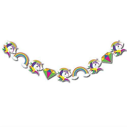 Dekoratif Figürler Simli Banner Unicorn