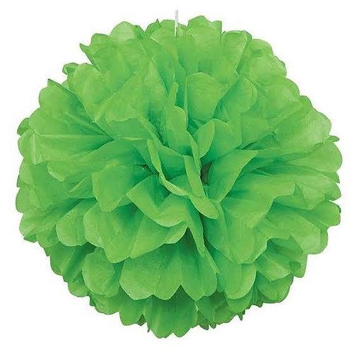 Yeşil Kağıt Top Süs Çiçek ( 1 Adet )