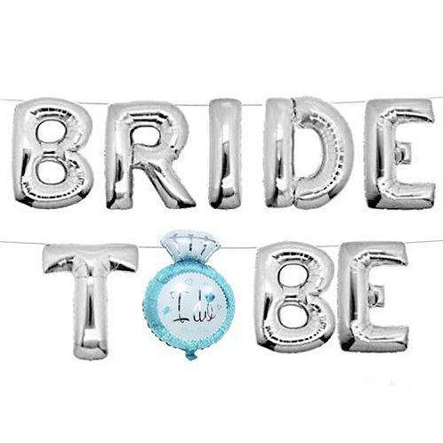 Bride To Be Harf Harf Folyo Balon