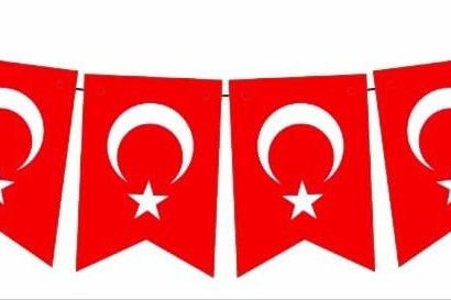 Ay Yıldız  Kırlangıç Türk Bayrağı Banner