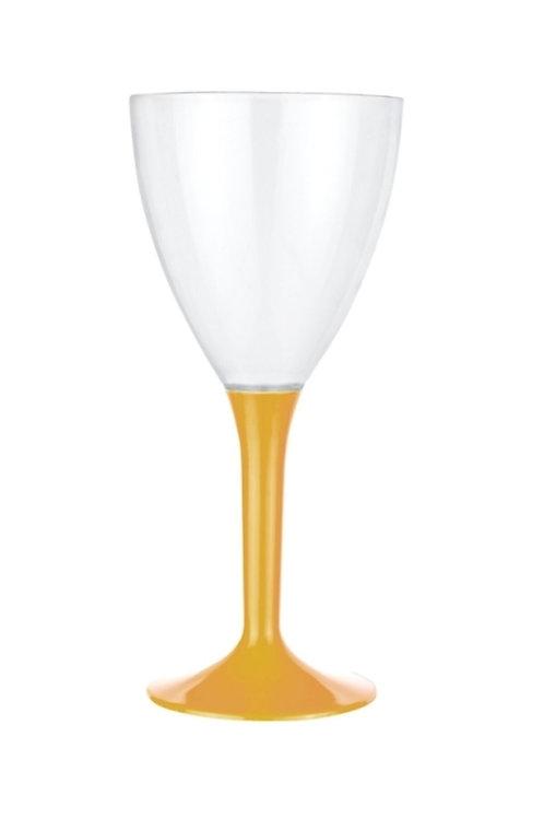 Kristal Gold Renk Plastik Şarap Kadehi 10'lu