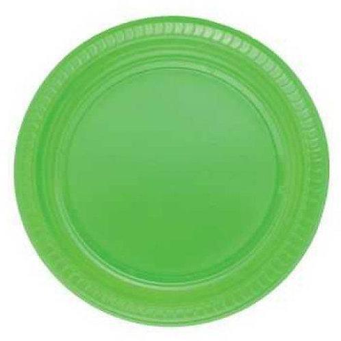 Plastik Yeşil Tabak 25'li