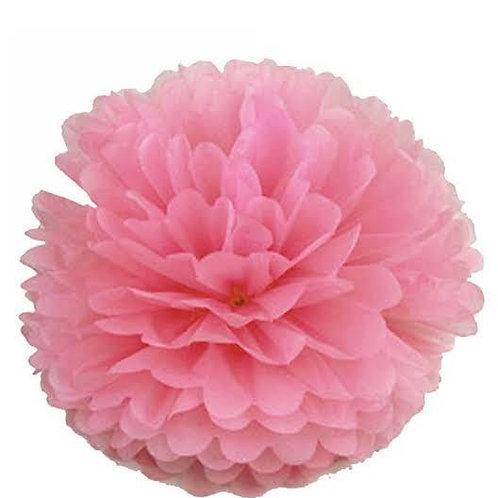 Pembe Kağıt Top Süs Çiçek ( 1 Adet )