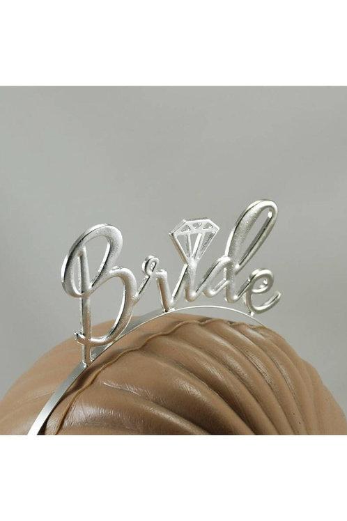 Bride Tek Taş Gümüş Renk Metal Bekarlığa Veda Partisi