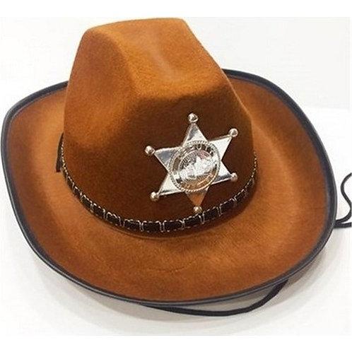 Kovboy, Şerif Şapkası Kahverengi