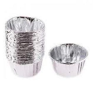 25 Li Metalik Gümüş Kek Kapsülü