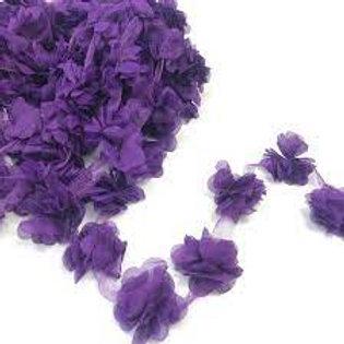 Çiçek Tül Lazer Kesim Mor