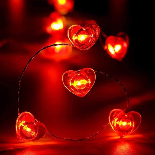 Kalp Işık Kırmızı 3 Metre USB Girişli
