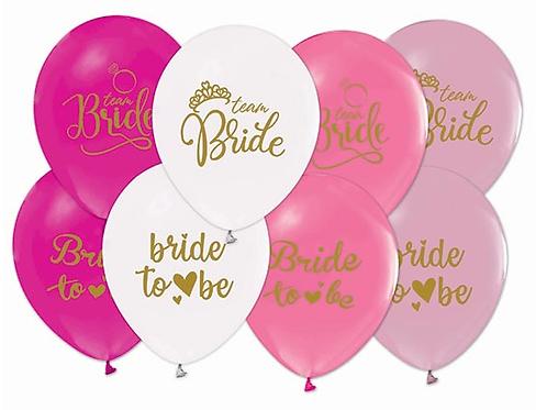 """BALON BRIDE TO BE 12"""" PASTEL PK:100"""