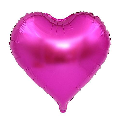 Fuşya Kalp Folyo Balon 45 cm