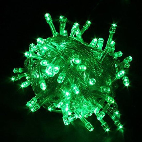 YEŞİL RENKLİ PİLLİ 3 METRE LED