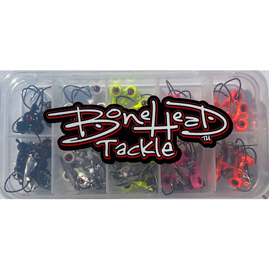 BONEHEAD TERMINAL TACKLE PACK (BX 1/16 JIG HEADS)
