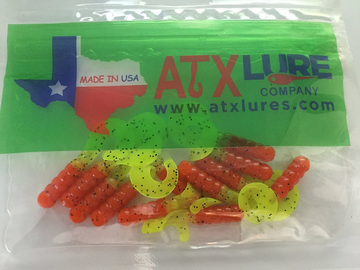"ATX Lures 1 1/2"" Curly Tails -Lavon"