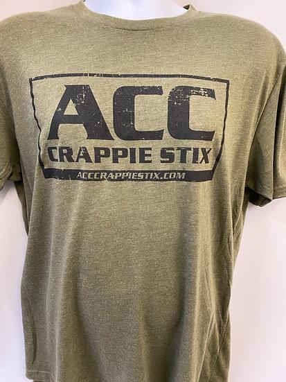 ACC Crappie Stix Green Short Sleeve T-Shirt