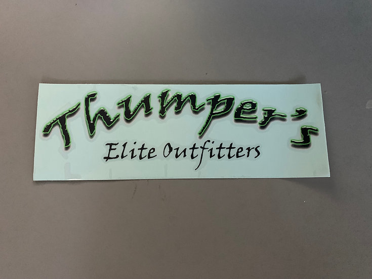 Thumper's Elite Outfitters Car Window Sticker