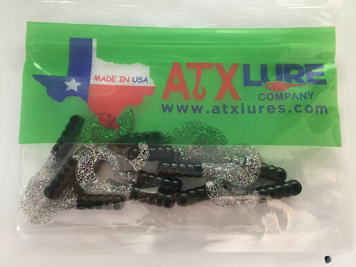 "ATX Lures 1 1/2"" Curly Tails -Night Shiner"