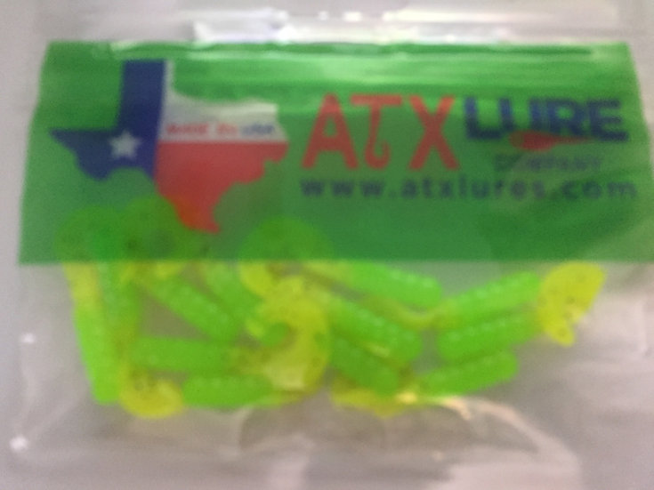 """Lures 1 1/2"""" Curly Tails -Glow Stick"""