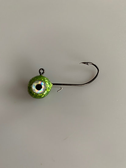 MAD 1/4 oz. Crappie Jigs - Disco Chartreuse   5 pk.