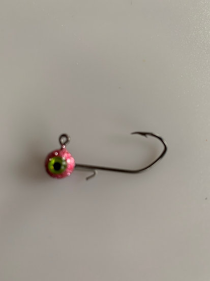MAD 1/16 oz. Crappie Jigs - Disco Pink 5 pk.