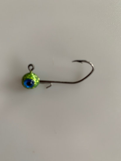 MAD 1/16 oz. Crappie Jigs - Disco Chartreuse  5 pk.