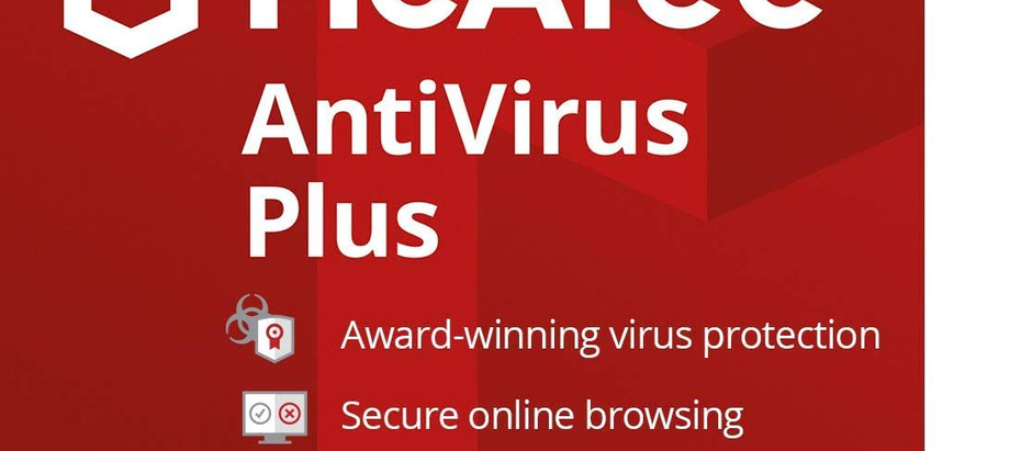 McAfee AntiVirus Protection Plus 2020, 10 Device, Internet Security Software, 1 Year - Download Code